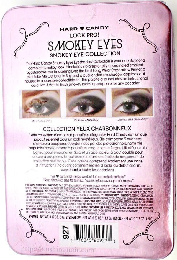 Hard Candy Smokey Eyes Eyeshadow Palette Ingredients