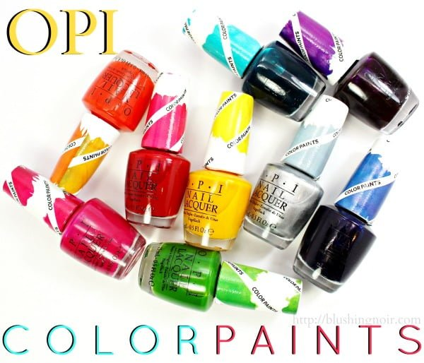 OPI Color Paints Nail Polish Swatches + Tie-Dye Nail Art // Tutorial