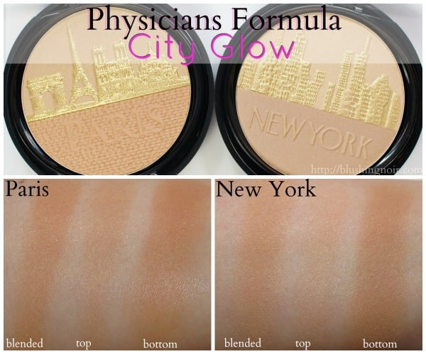 Physicians Formula City Glow Swatches
