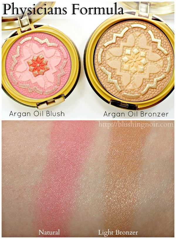 Physicians Formula Ultra Nourishing Argan Oil Blush Bronzer swatches