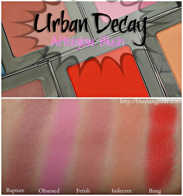 Urban Decay Afterglow Blush Swatches