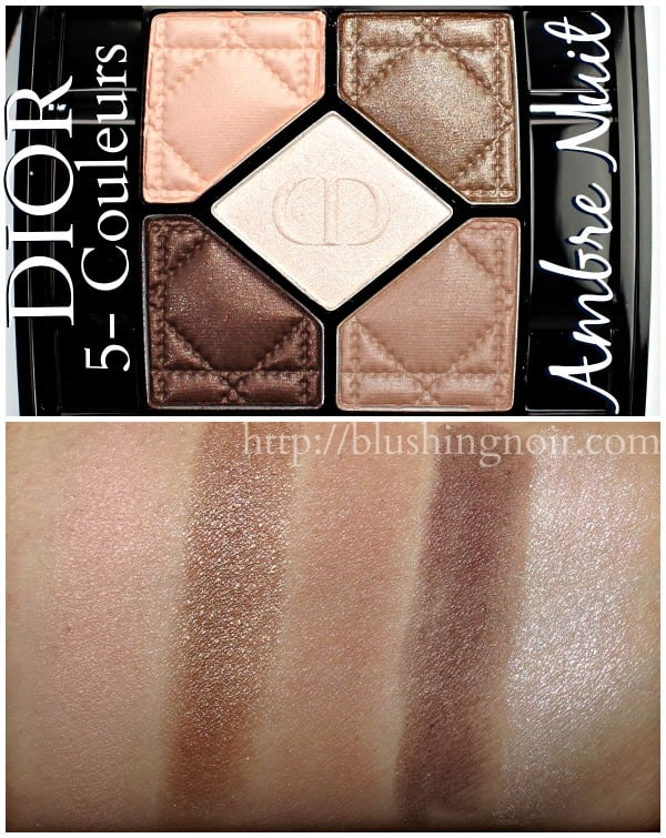 Dior Ambre Nuit 5-Couleurs Swatches