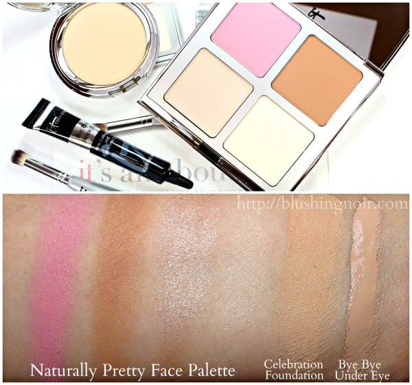 IT Cosmetics IT's All About You Four-Piece Customer Favorites Collection Swatches