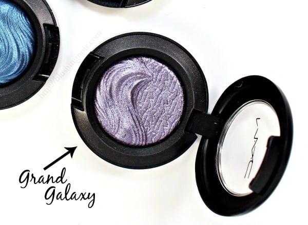 MAC Grand Galaxy Extra Dimension Eye Shadow Swatches