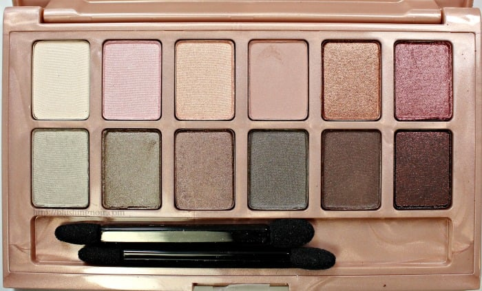 Maybelline Blushed Nudes Eye shadow palette review swatches