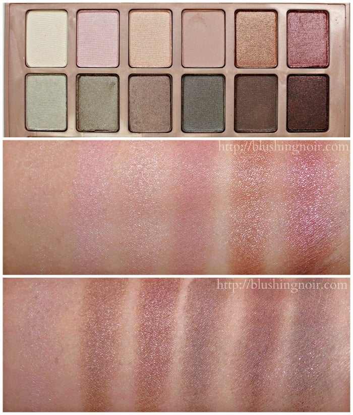 Maybelline The Blushed Nudes Eye Palette Swatches