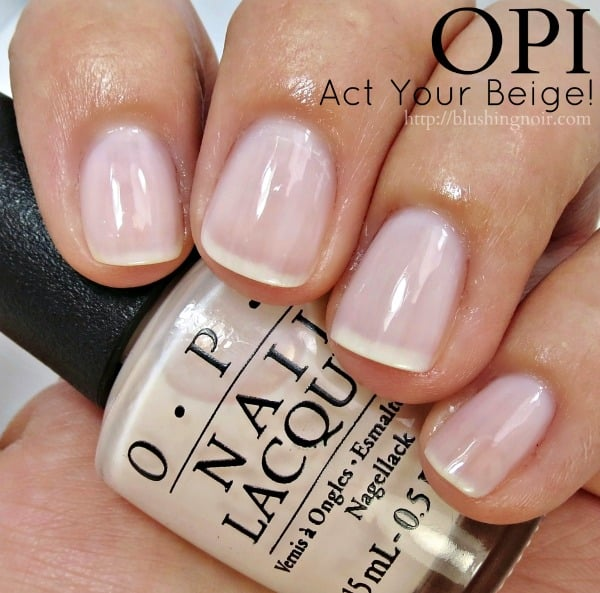 OPI Act Your Beige Nail Polish Swatches