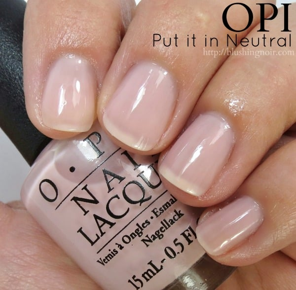 OPI Put it in Neutral Nail Polish Swatches