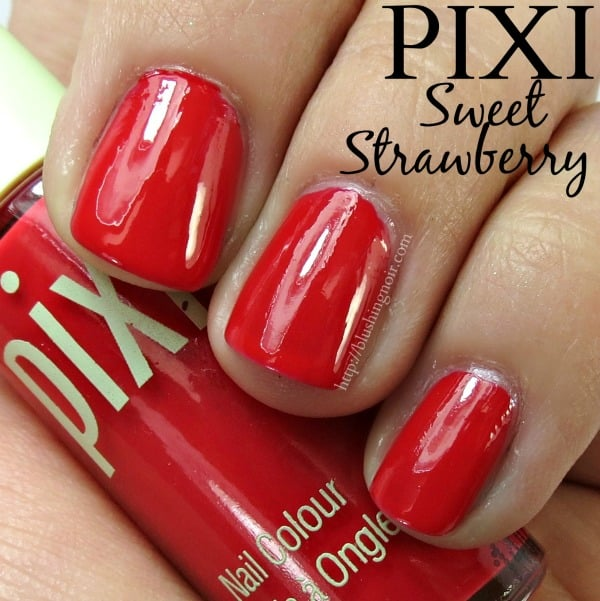 Pixi Beauty Sweet Strawberry Nail Polish Swatches