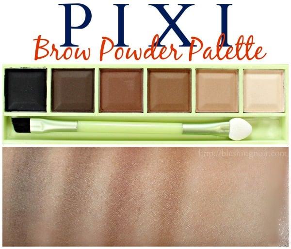 Pixi Brow Powder Palette Swatches
