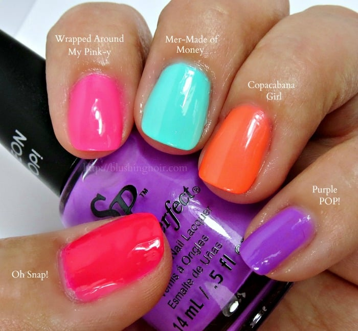 Salon Perfect Neon Pop Nail Polish Collection Swatched