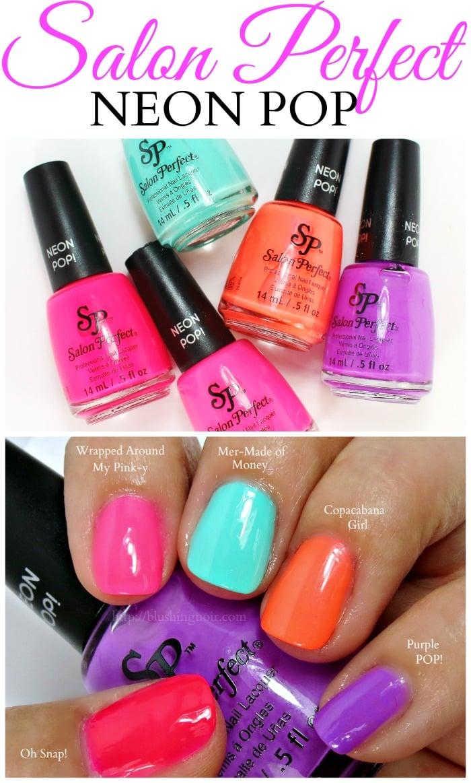 Salon Perfect Neon Pop Nail Polish Swatches