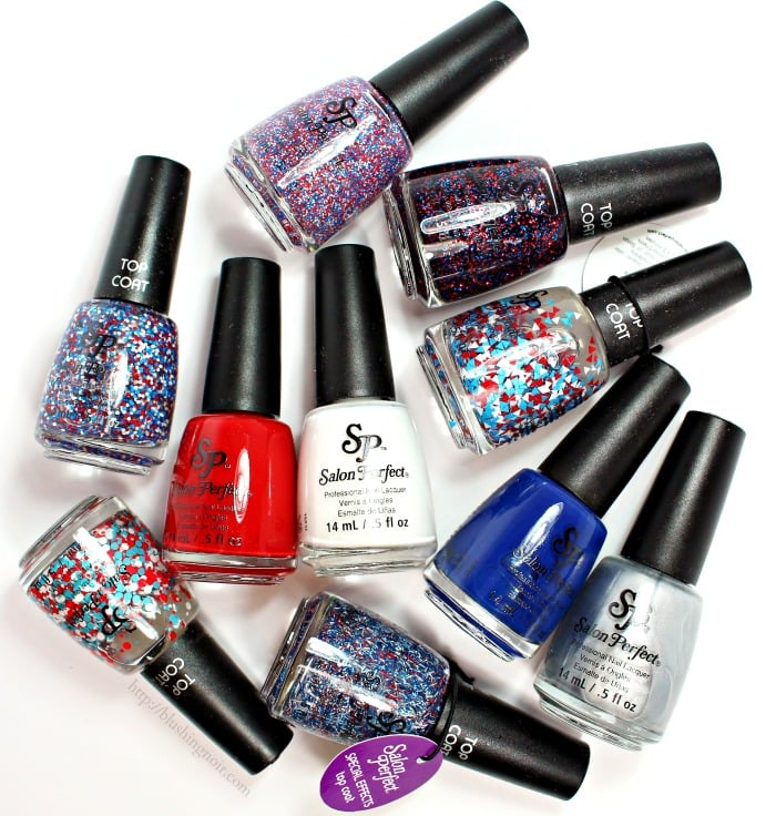 Salon Perfect Rockin' the Red, White & Blue Nail Polish Collection Swatches