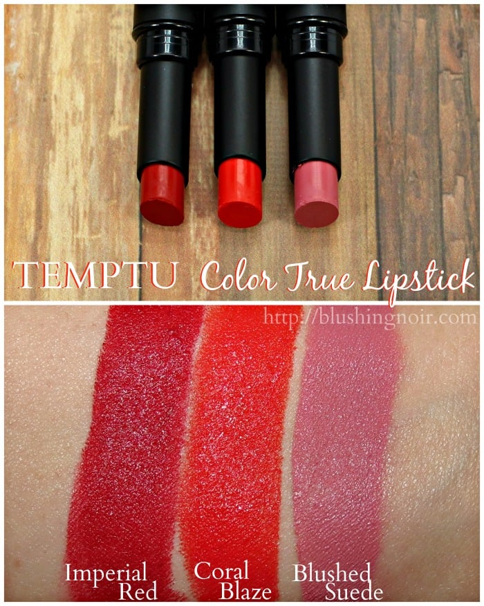 Temptu Color True Lipstick Swatches