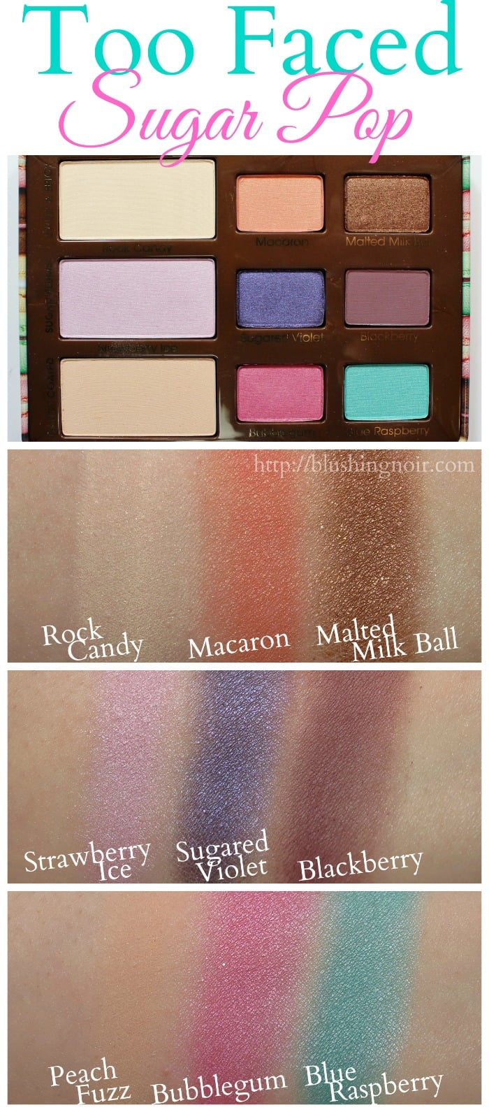 Too Faced Sugar Pop Palette Swatches