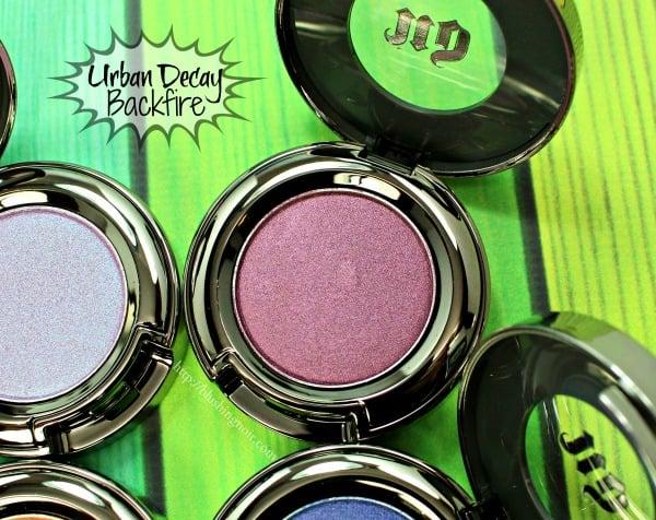 Urban Decay Backfire Eyeshadow Swatches