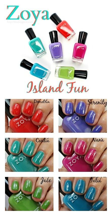 Zoya Island Fun Nail Polish Collection