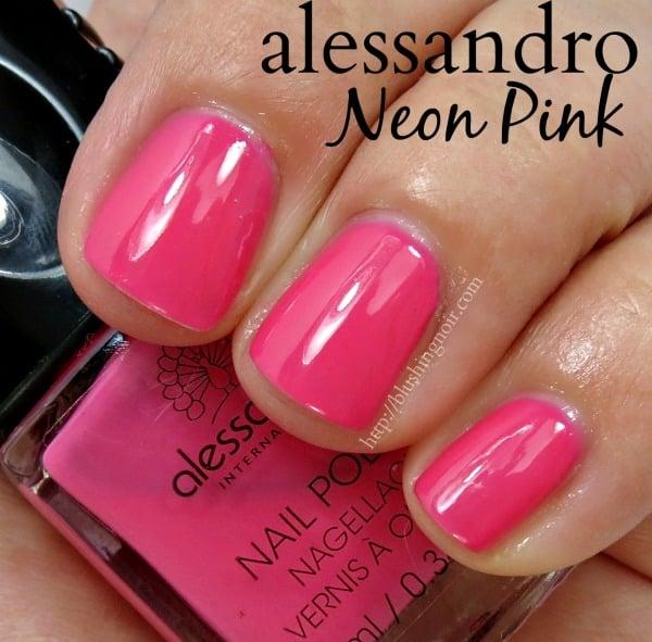 alessandro Neon Pink Nail Polish Swatches
