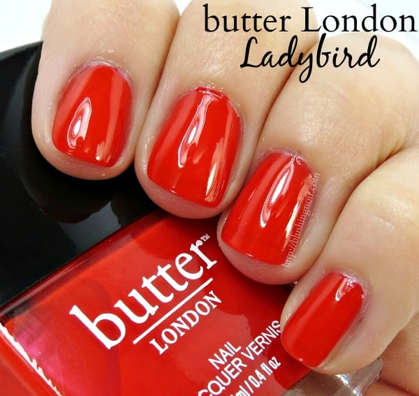 butter London Ladybird Nail Polish Swatches