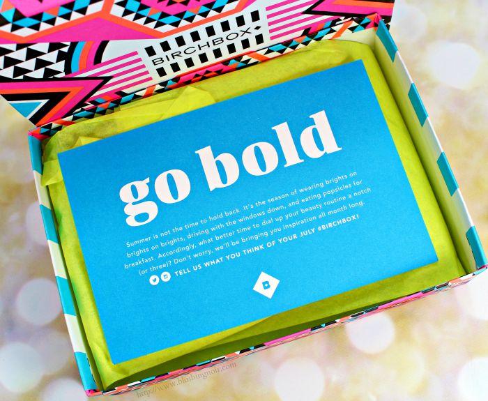 Birchbox Go Bold July 2015