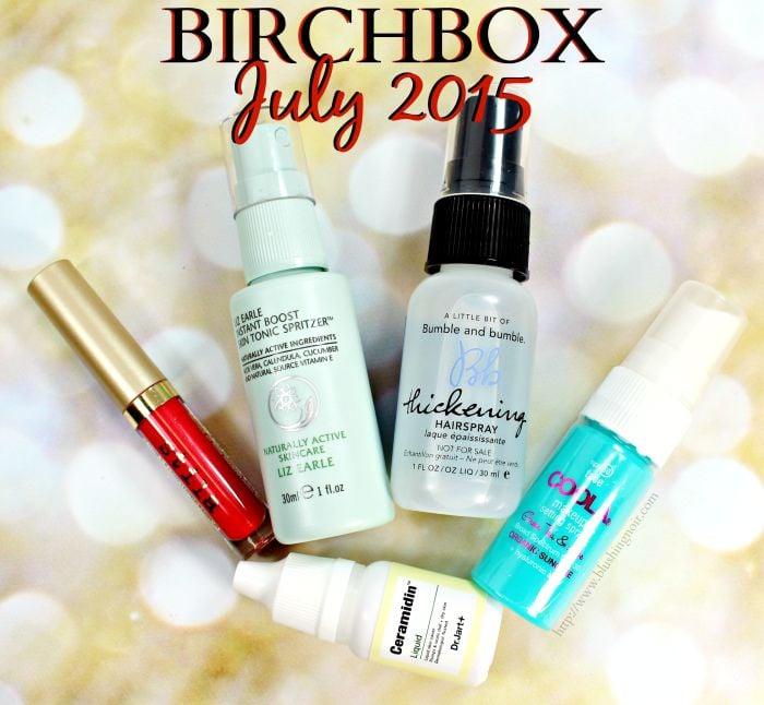 Birchbox Review Swatches July 2015