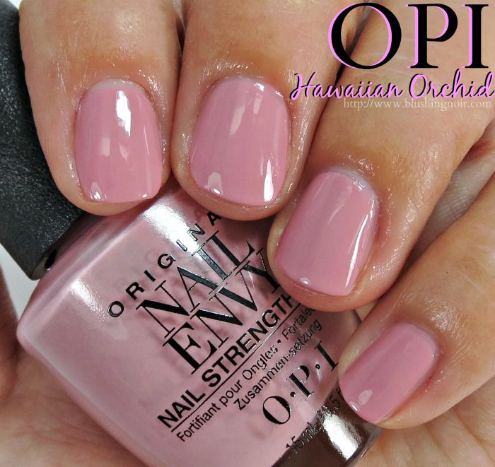 OPI Hawaiian Orchid Nail Envy Swatches