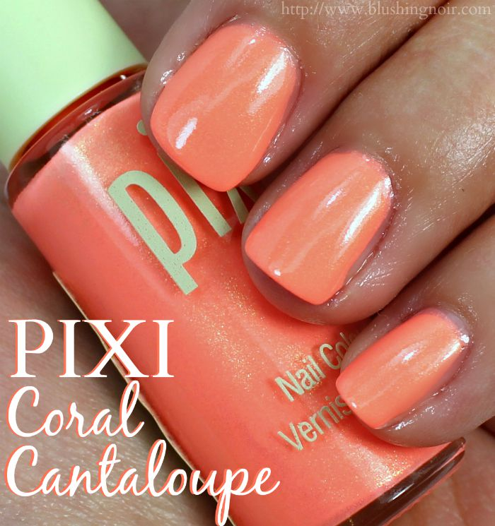PIXI Coral Cantaloupe Nail Polish Swatches