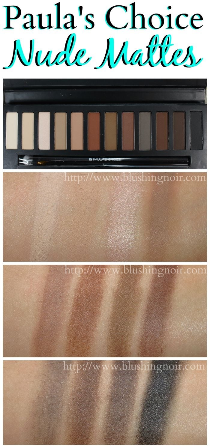 Paula's Choice The Nude Mattes Eyeshadow Palette Swatches