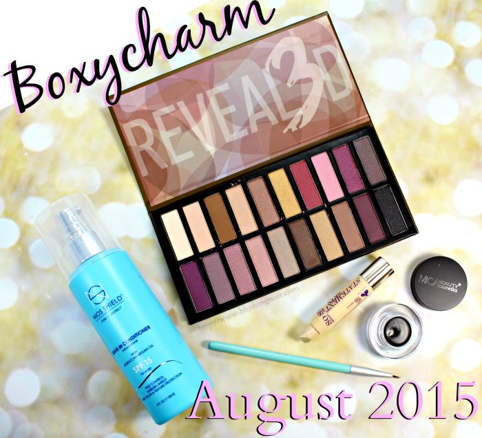 Boxycharm August 2015 swatches review