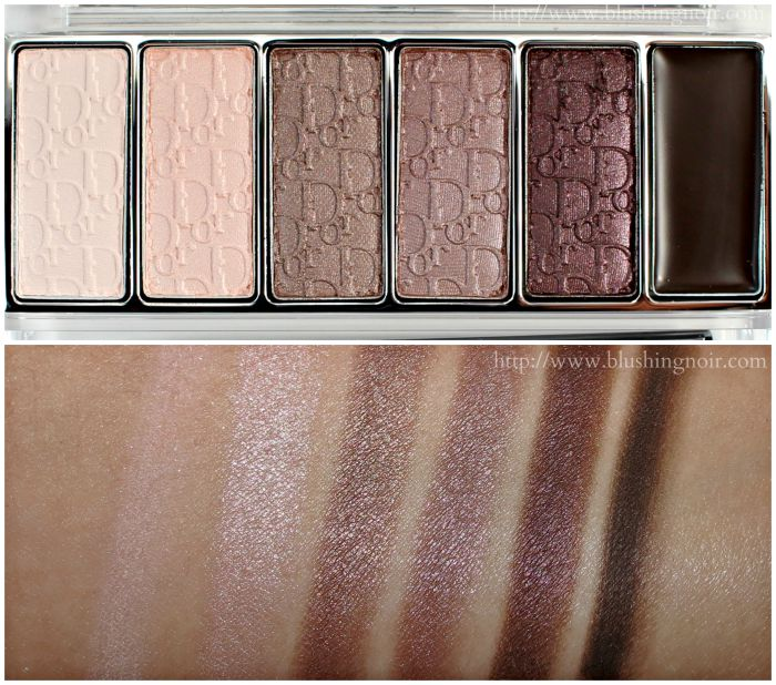 Dior Eye Reviver Palette Nordy Girl Swatches