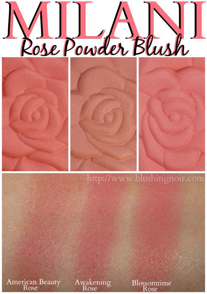 Milani Rose Powder Blush Swatches