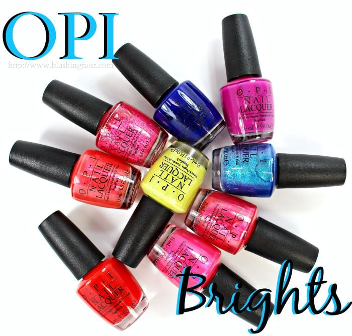 OPI Brights by OPI Nail Polish Collection Swatches + Review // Summer 2015