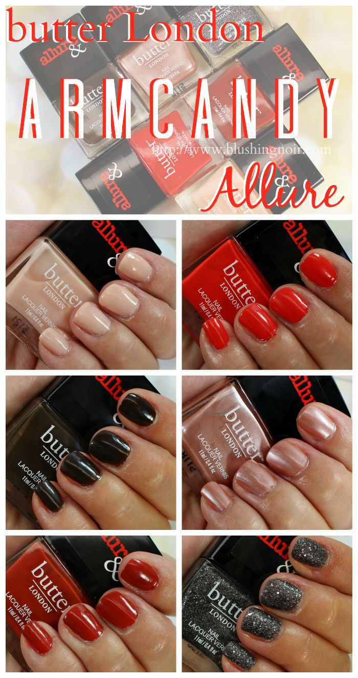 butter London Allure Arm Candy Nail Polish Swatches