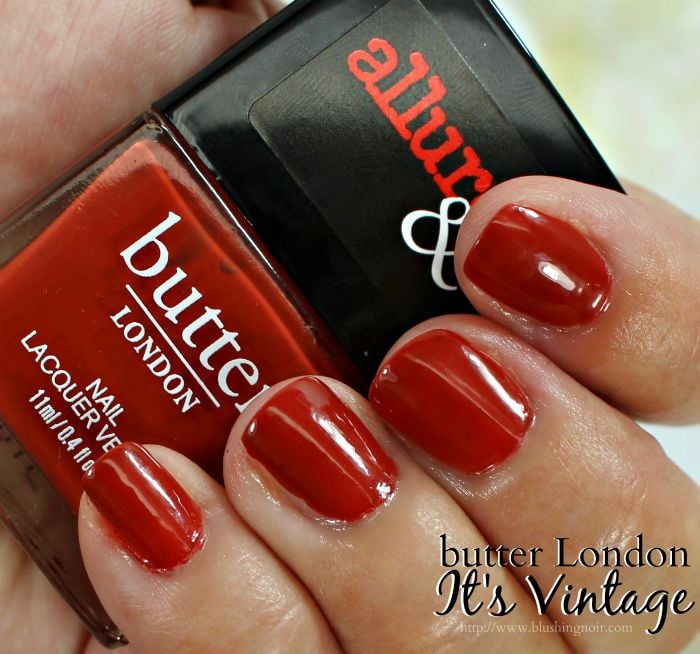 butter London It's Vintage Nail Polish Swatches