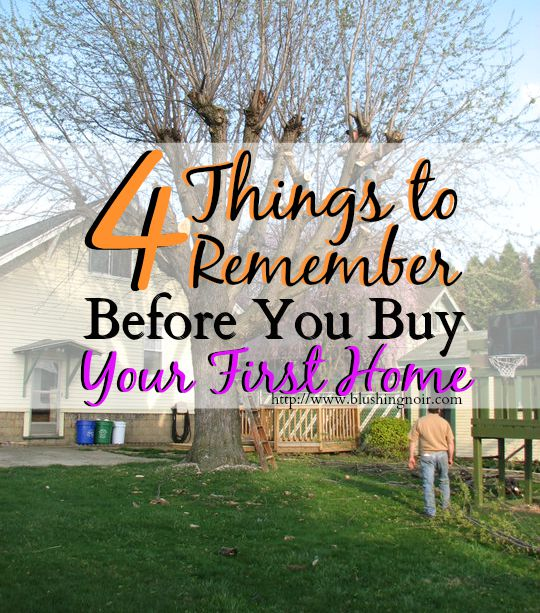4 Things to Remember Before You Buy Your First Home
