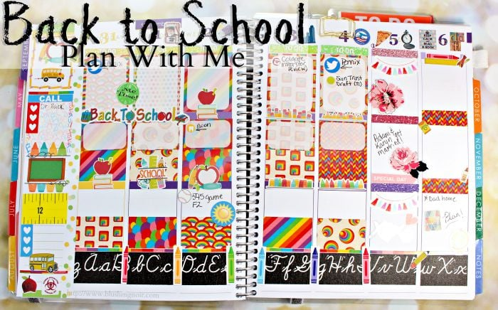 Back to School Plan WIth Me Planner