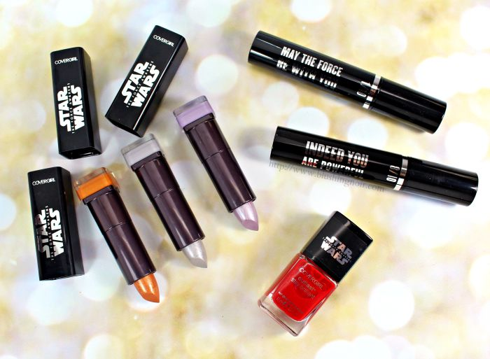 Covergirl star wars makeup collection swatches review
