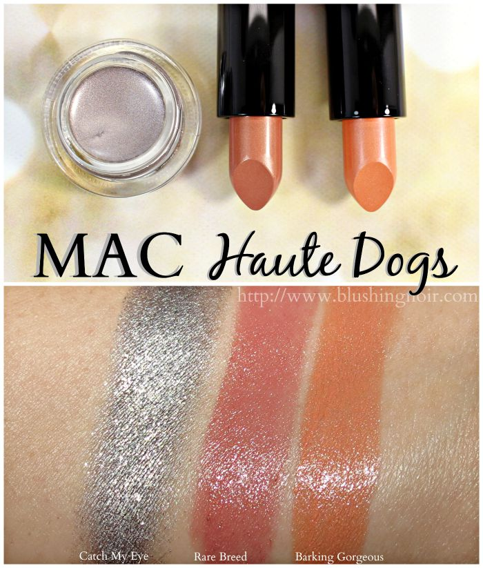 MAC Haute Dogs Swatches