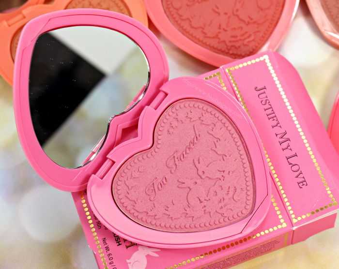 Too Faced Justify My Love Blush Swatches