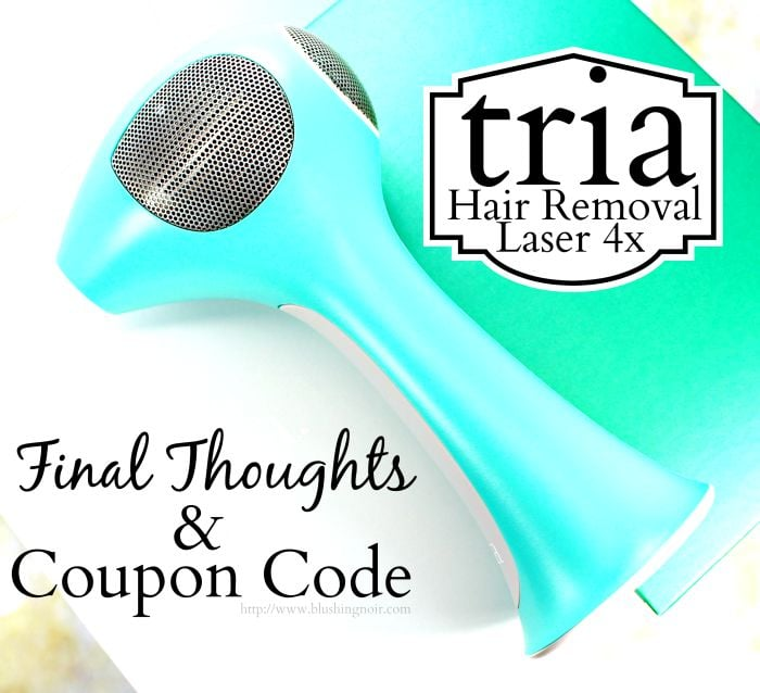 Tria Hair Removal Laser 4x Review coupon code