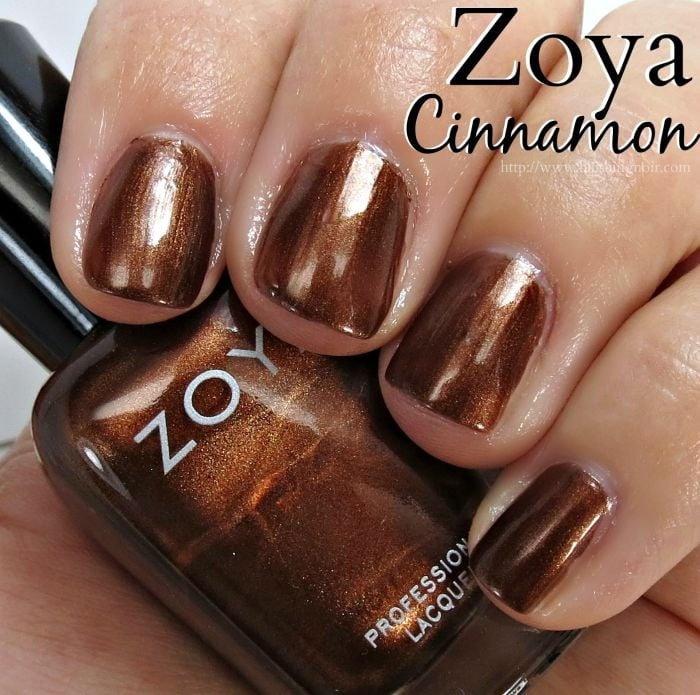 Zoya Cinnamon Nail Polish Swatches