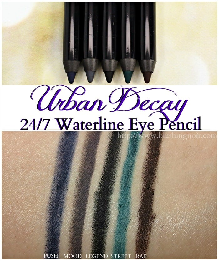 Urban Decay 247 Waterline Eye Pencil Swatches
