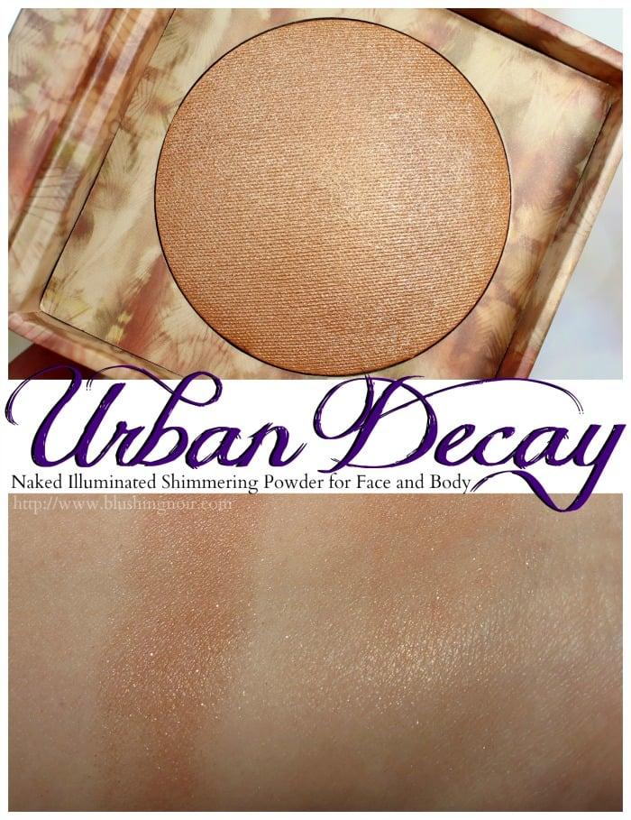 Urban Decay LIT Naked Illuminated Shimmering Powder Swatches