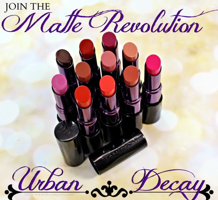 Urban Decay Matte Revolution review swatches