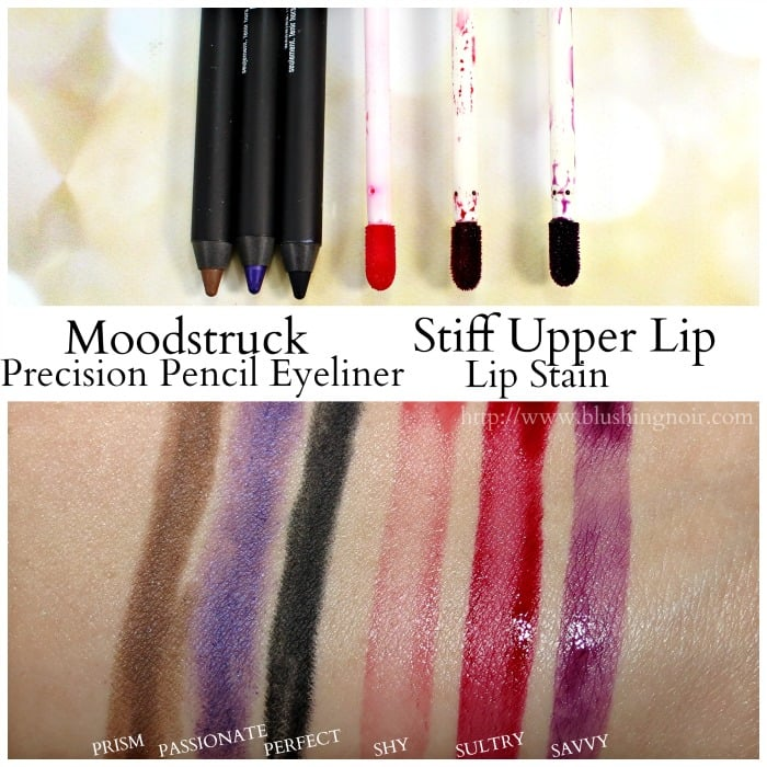 Younique Eyeliner Lip Stain Swatches