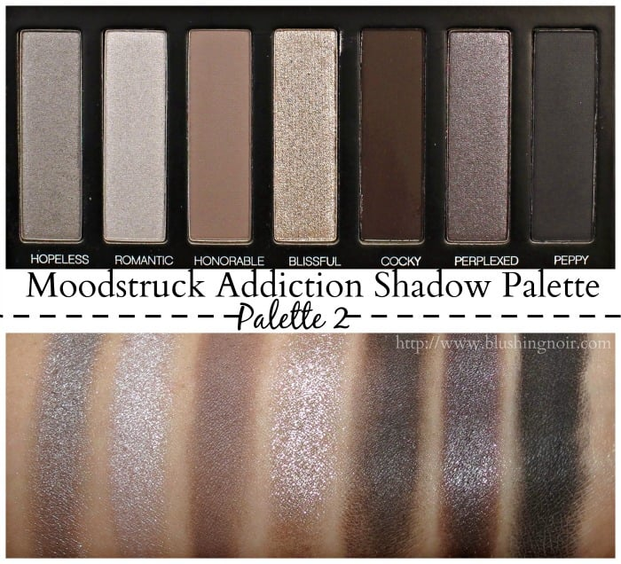 Younique Moodstruck Addiction Shadow Palette 2 Swatches