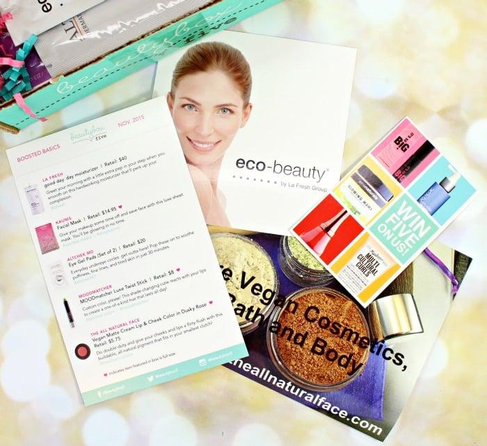 Beauty Box 5 November 2015 review