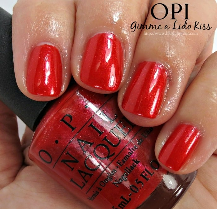 OPI Gimme a Lido Kiss Nail Polish Swatches