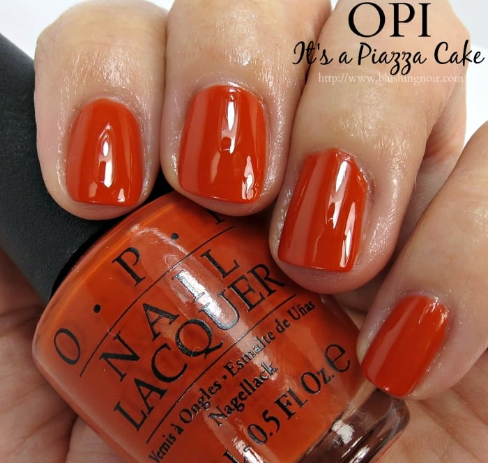 OPI It's a Piazza Cake Nail Polish Swatches