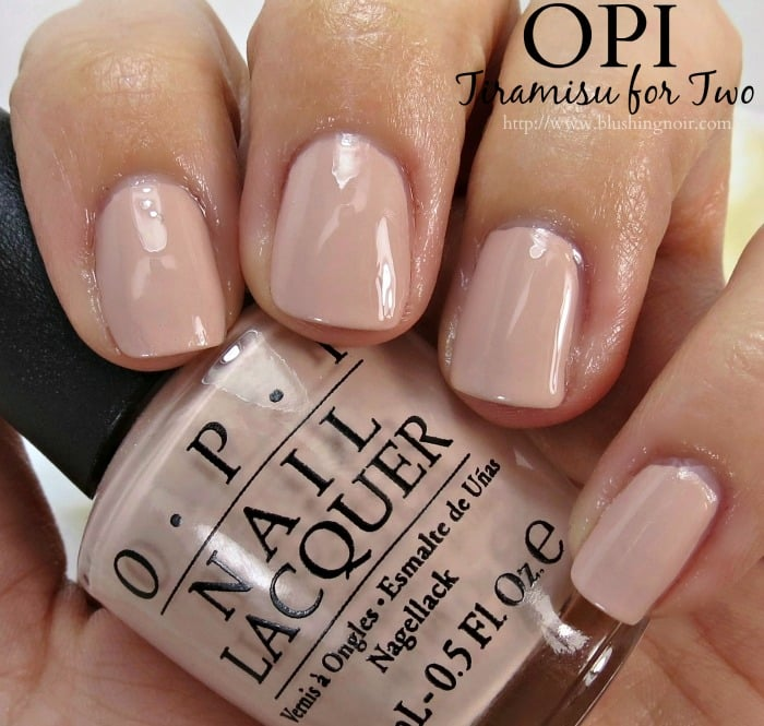 OPI Tiramisu for Two Nail Polish Swatches